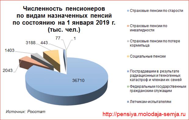 Сколько пенсионеров в России на 2019 год