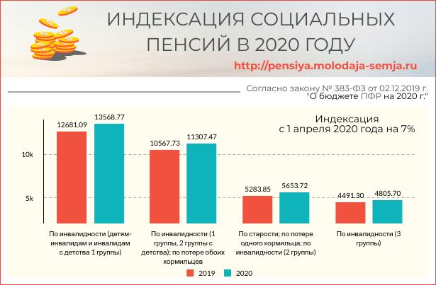 Социальная пенсия в 2020